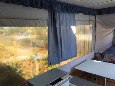 shrunken curtains